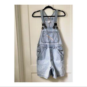Vintage Denim Short Overalls